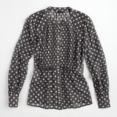 J. Crew Factory printed silk posy blouse