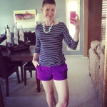 J. Crew tee, Old Navy shorts