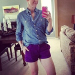 J. Crew shirt, Old Navy shorts