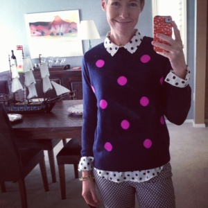 polka dots and print pants